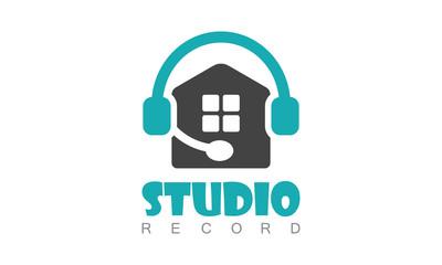 Home studio record logo