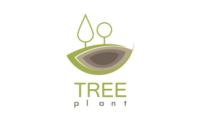 tree plant organic logo