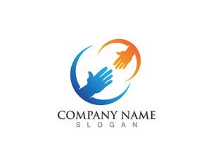 Hand Help Logo vector