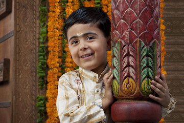 Portrait of a South Indian boy