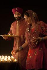 Couple with diyas