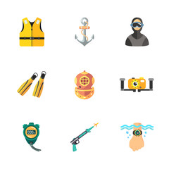 nine diving icons