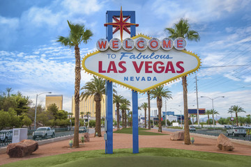 Fotorolgordijn Las Vegas The fabulous Welcome Las Vegas sign