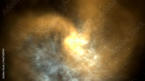 Avalanche Of Asteroids After Explosion In Space Cataclysm