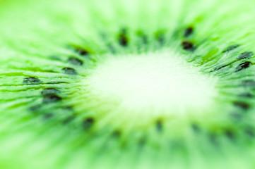 Bright green sour kiwi awakens the appetite
