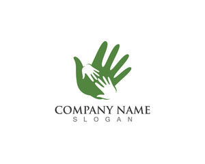Hand help logo