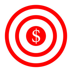 Target earnings. Business icon. Vector illustration isolated on white background.