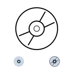 Compact Disc Logo Icon Vector