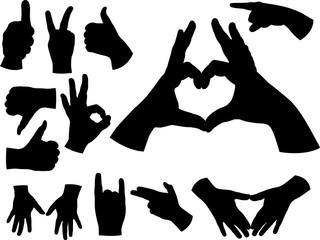 hands vector silhouette