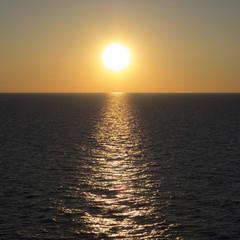Wall Mural - Sun over Baltic Sea
