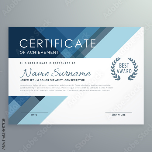 Blue certificate design in professional style stock image and blue certificate design in professional style yadclub Images