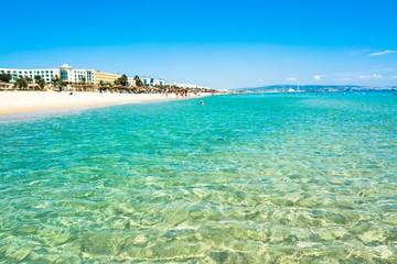 Foto auf Acrylglas Olivgrun Strand in Tunesien