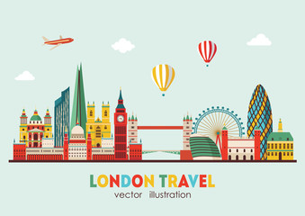 London Skyline abstract. Vector illustration - stock vector