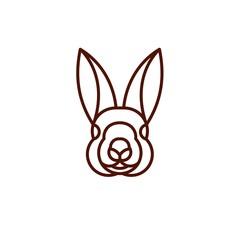 Rabbit - Vector logo / icon mascot illustration