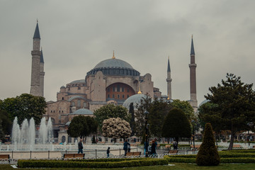 The mosque of Hagia Sophia in Istanbul