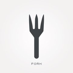 Silhouette icon fork