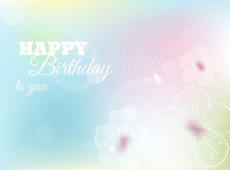 Happy birthday to you greeting card. Vector illustration