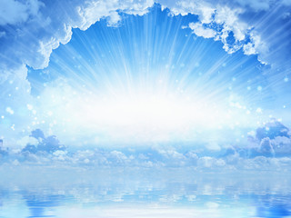 Beautifull heavenly background - light from heaven Wall mural
