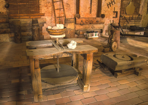 medieval room of writer