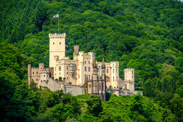 Canvas Prints Castle Stolzenfels Castle at Rhine Valley near Koblenz, Germany.