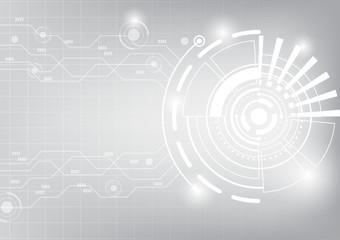 Shining futuristic circle, vector technology background