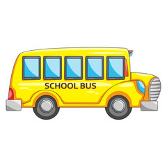 School bus transportation cartoon