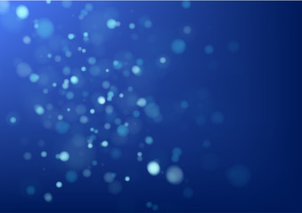 Abstract blue background and bokeh lights. Vector illustration