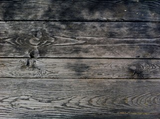 Dark wooden boards, planks. Naturally aged wood, natural brushing process. The background without anything.