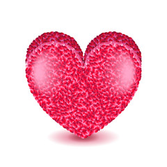 Big pink heart isolated on white vector