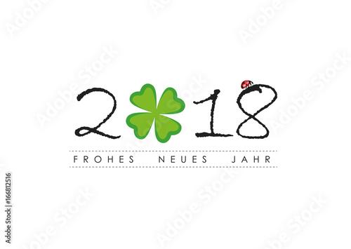 frohes neues jahr 2018 kleeblatt\