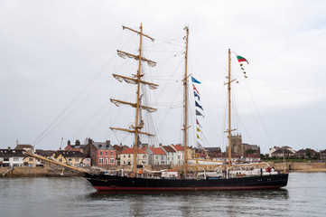Tall ship at Hartlepool, England