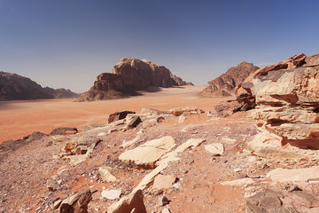 Martian desert in Jordan