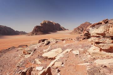 Martian desert in Jordan