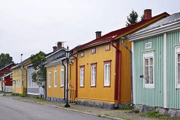 Old street in Kokkola. Finland