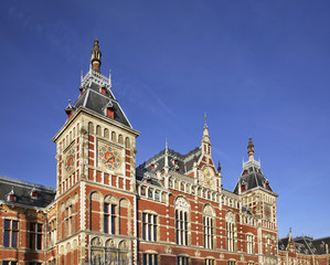 Railway station in Amsterdam. Netherlands