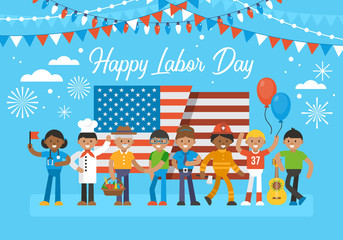 Happy Labor Day banner design