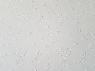 White embossed pattern scrapbook stock paper