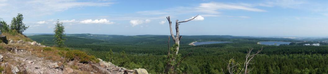Osterzgebirge  Blick vom Kahleberg