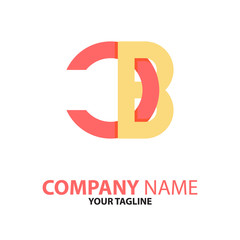 BC CB initial logo concept
