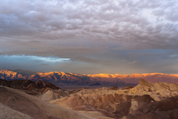 Rugged Badlands Amargosa Mountain Range Death Valley Zabriske Point