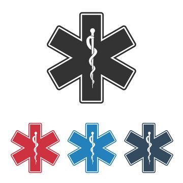 Star of Life - Emergency Medical symbol, vector