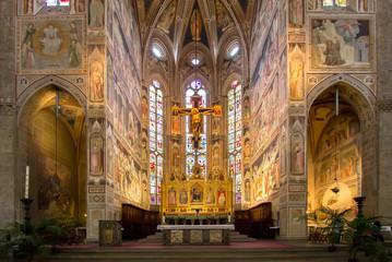 The interior of the Basilica of Santa Croce