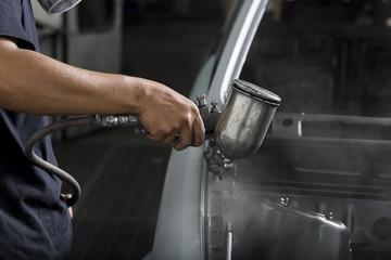 Auto body repair series: Car engine bay painting