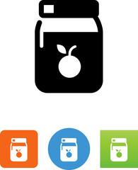Jar Of Fruit Preserves Icon - Illustration