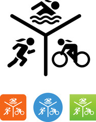 Ladies Triathalon Icon - Illustration
