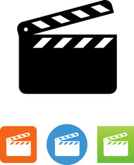 Movie Clapboard Icon - Illustration