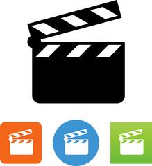 Movie Clapper Board Icon - Illustration