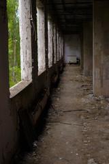 Spoed Foto op Canvas Oude verlaten gebouwen Inside a grocery store in Pripyat after 30 years from the Chernobyl nuclear catastrophe