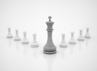 Leadership chess king