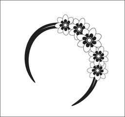 hair flower band